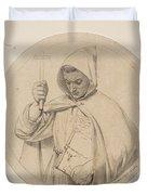 Study Of Monk Representing The Catholic Faith Duvet Cover