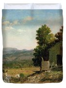 Study Of Old Barn In New Hampshire Duvet Cover