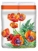 Study Of Poppies Duvet Cover