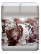 Study Of Rocks At Betws-y-coed Duvet Cover