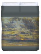 Study Of The Sky With Setting Sun Duvet Cover