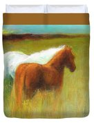 Study Of Two Ponies Duvet Cover