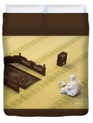 Studying The Quran Duvet Cover