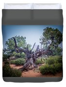 Stump In The Fog Duvet Cover