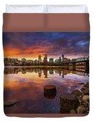 Stumptown Sunset Duvet Cover