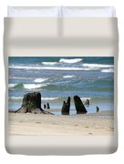 Stumpy Beach Duvet Cover