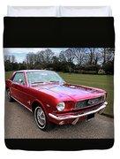 Stunning 1966 Metallic Red Mustang Duvet Cover