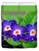 Stunning Blue Flowers Duvet Cover