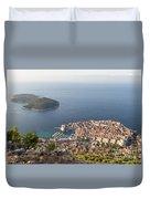 Stunning View Of Dubrovnik In Croatia Duvet Cover
