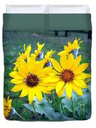 Stunning Wild Sunflowers Duvet Cover