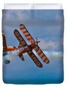Stunt Biplanes With Wingwalkers Duvet Cover