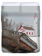 Sturgeon Point Lighthouse Duvet Cover