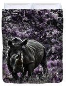 Styled Environment-the Modern Trendy Rhino Duvet Cover