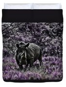 Styled Environment-the Modern Trendy Rhino Duvet Cover