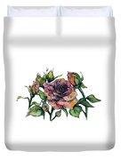 Stylized Roses Duvet Cover by Lauren Heller
