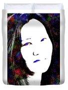 Stylized Woman's Portrait Duvet Cover