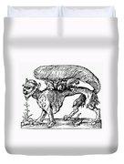 Su Monster (opossum), 1558 Duvet Cover