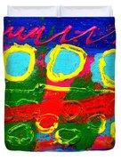 Sub Aqua IIi - Triptych Duvet Cover by John  Nolan