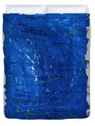 Subatomic Particles In Blue State Duvet Cover