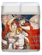 Subscribe To Hasten Peace By Victory Duvet Cover