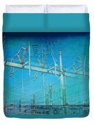 Substation Insulators Duvet Cover