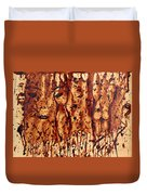 Subtle Atraction Coffee Painting Duvet Cover