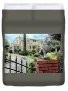 Suburban Antique House With Lion Hayward California 22 Duvet Cover