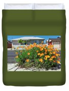 Suburban House On Orchard Avenue With Poppies Hayward California 3 Duvet Cover