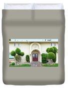 Modern Suburban House With Topiary Hayward California 31 Duvet Cover
