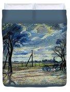 Suburban Landscape In Spring  Duvet Cover by Waldemar Rosler