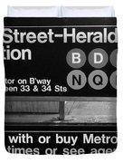 Subway 34 Street Duvet Cover