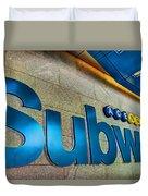 Subway Entrance Duvet Cover
