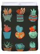 Succulent Garden No. 1 Duvet Cover