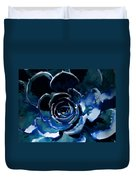 Succulent In Blue Duvet Cover