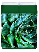 succulents Rutgers University Gardens Duvet Cover