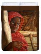 Sudanese Girl Duvet Cover