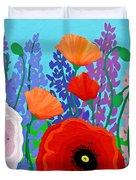 Sue's Flower Bed Duvet Cover