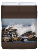 Sufficient Grace - Text Full Duvet Cover
