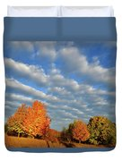 Sugar Maple Sunrise Along Route 31 Duvet Cover