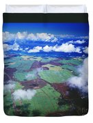Sugarcane Fields In Central Maui Duvet Cover