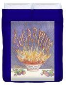 Sugarplum Fire Duvet Cover