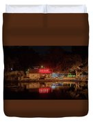 Suisan Fish Market At Night Duvet Cover