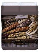 Suitcase Full Of Indian Corn Duvet Cover