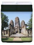 Sukhothai Khmer Sanctuary Duvet Cover