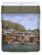 Sul Lago Di Como Duvet Cover by Guido Borelli