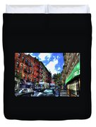 Sullivan Street In Greenwich Village Duvet Cover by Randy Aveille