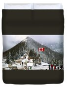 Sulphur Mountain In Banff National Park In The Canadian Rocky Mountains Duvet Cover