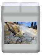 Sulphur Works - Lassen Volcanic National Park Duvet Cover by Christine Till