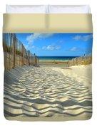 Sultry September Beach Duvet Cover