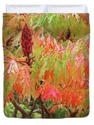 Sumac Tree Autumn Reflections Duvet Cover
